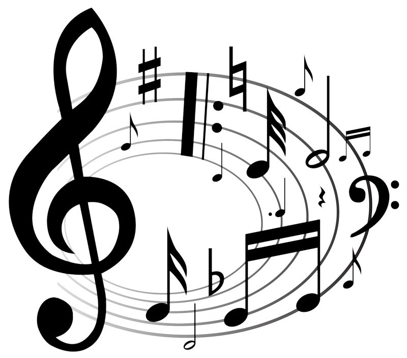 Картинки про музыку на белом фоне